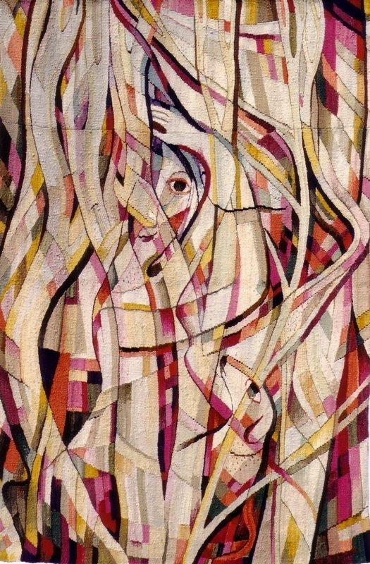 Johanna Schütz-Wolff Bildteppich 'Frau unter Bäumen' Hamburg, 1949 Wolle, Bildwirkerei Höhe: 190 cm, Breite 130 cm ©Nachlass Johanna Schütz-Wolff