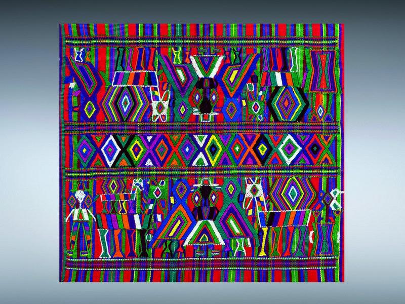 Tuch zum zeremoniellen Gebrauch (servilleta) Baumwolle, Guatemala Slg. Horst Eichler, ca. 1970 GRASSI Museum für Völkerkunde zu Leipzig © Staatliche Kunstsammlungen Dresden Foto: Bernd Cramer