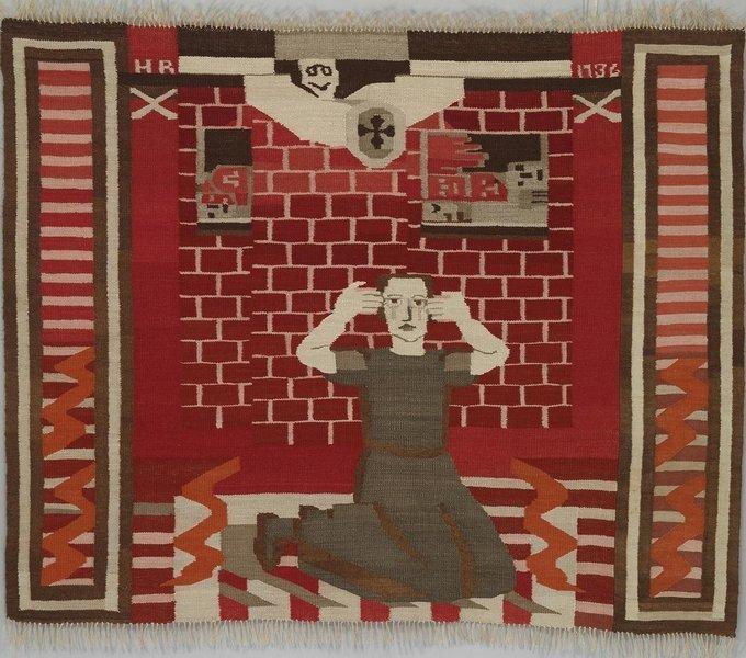 Hannah Ryggen: Gru  /Fear  tekstil  From the Civil War in Spain, 1936  © Hannah Ryggen/BONO