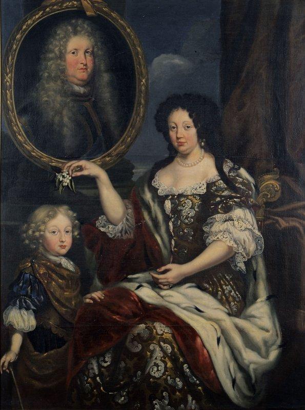 Familienporträt, Karl Wilhelm und seine Eltern Johann Georg Wagner, um 1686 Öl auf Leinwand © Haus Baden, Salem