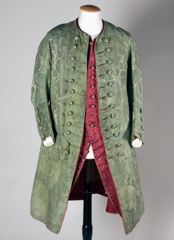 Kragenloser Herrenfrack eines Tanzmeisters um 1720 © Badisches Landesmuseum Karlsruhe Foto: Th. Goldschmidt