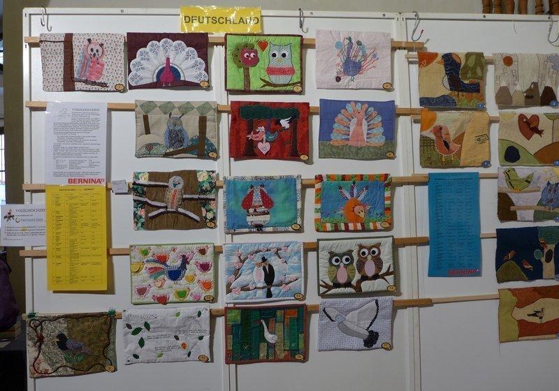 Blick in die Ausstellung 'Vogelhochzeit' der Patch-Kids (D)