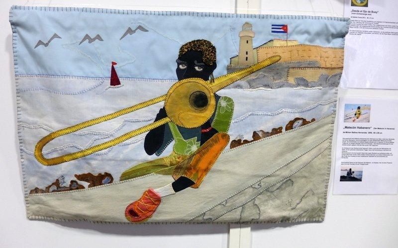Miriam Balboa Hernandez: Malecón Habanero, 2009, 60 x 88 cm Ausstellung 'Cuba libre'