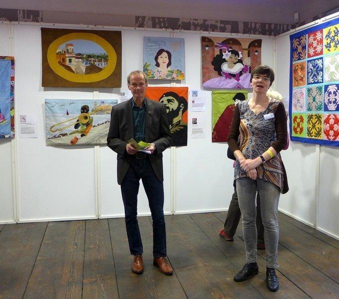 Ausstellungseröffnung durch Barbara Lange und dem Oberbürgermeister von Dinkelbühl, Herrn Dr. Hammer