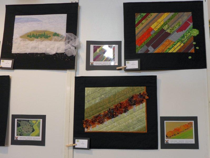 Blick in die Ausstellung 'Vom Bild zum Quilt' _ Härtsfelder Nadeltwister