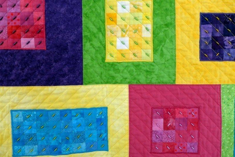 Mari-Carmen Pujante: Where to go?, Detail Ausstellung 'WQC Quilts 2014'