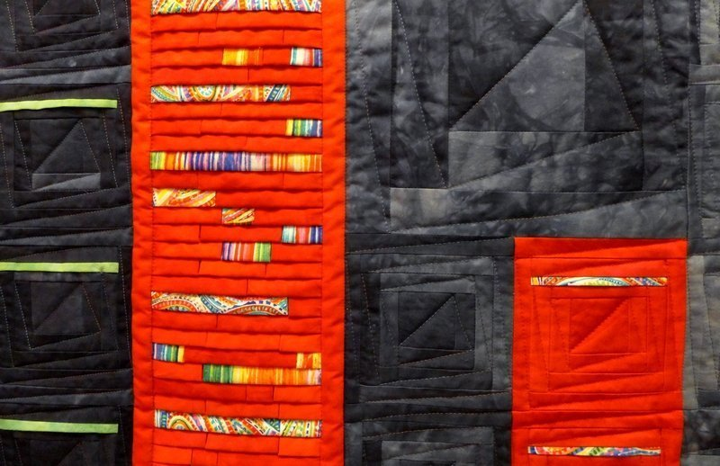 Annette Rußwinkel: Sylter Welle, Detail Ausstellung 'Log Cabin' - Ausschreibung der Patchwork Gilde