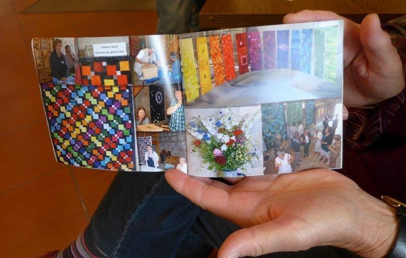 Ausstellung 'Farbkreis' - Flickwerk im Fachwerk