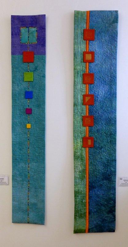Blautopf (li), Goldrausch (re) 'Farbe, Form, Vielfalt' - Einzelausstellung von Tina Mast