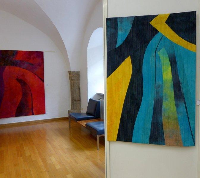 Giganten 11 (li), Giganten 1 (re) 'Giganten, Profile' - Einzelausstellung von Heike Dressler