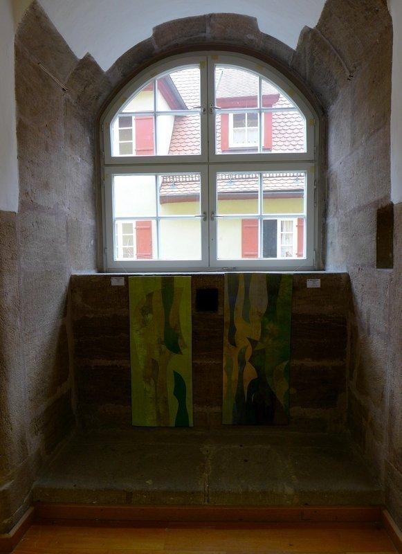 Profile 4 (li), Profile 5 (re) 'Giganten, Profile' - Einzelausstellung von Heike Dressler