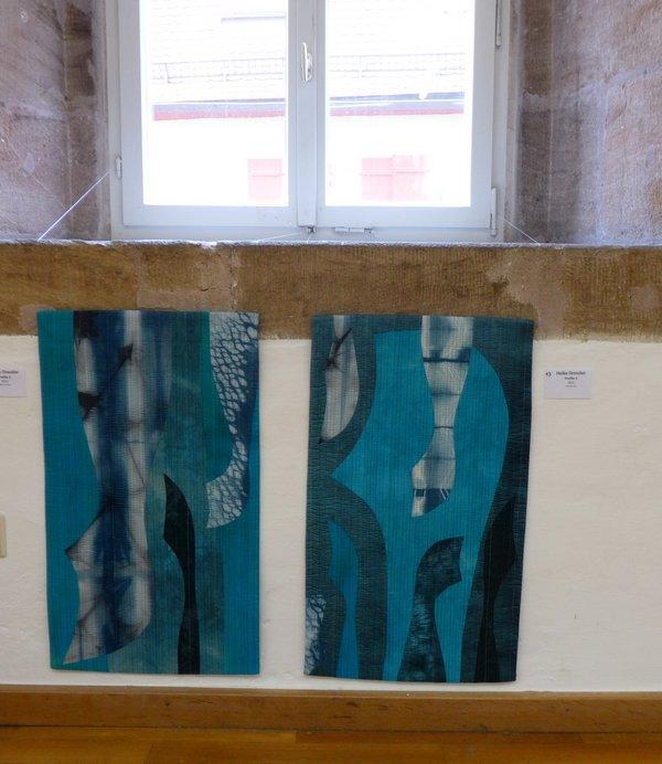 Profile 3 (li), Profile 2 (re) 'Giganten, Profile' - Einzelausstellung von Heike Dressler