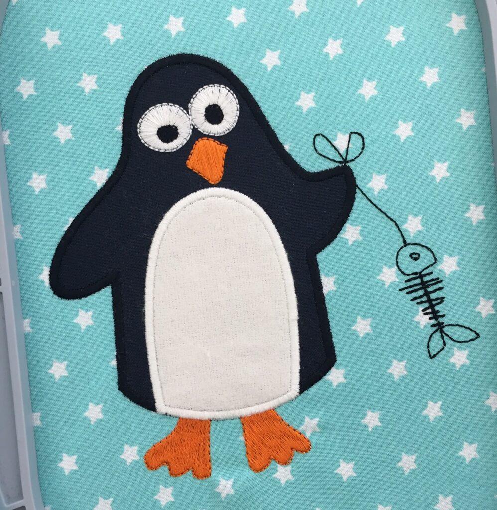 Pinguin-gestickt