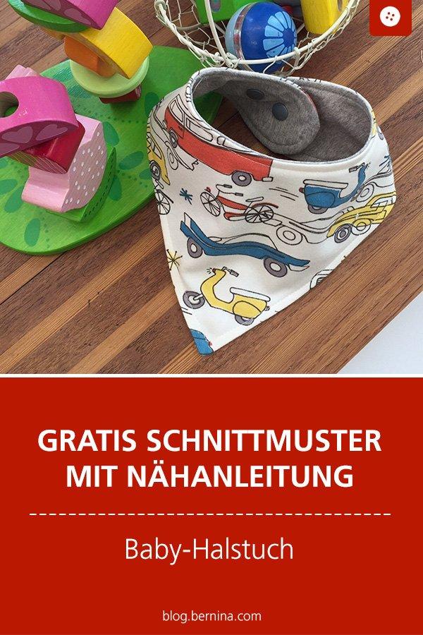 Gratis Schnittmuster mit Nähanleitung: Halstuch fürs Baby nähen
