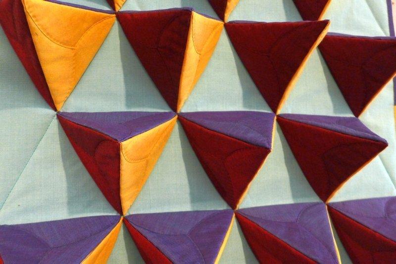 Regina Wicke: Tetraeder, Detail Ausstellung '3D' - Ausschreibung der Gilde