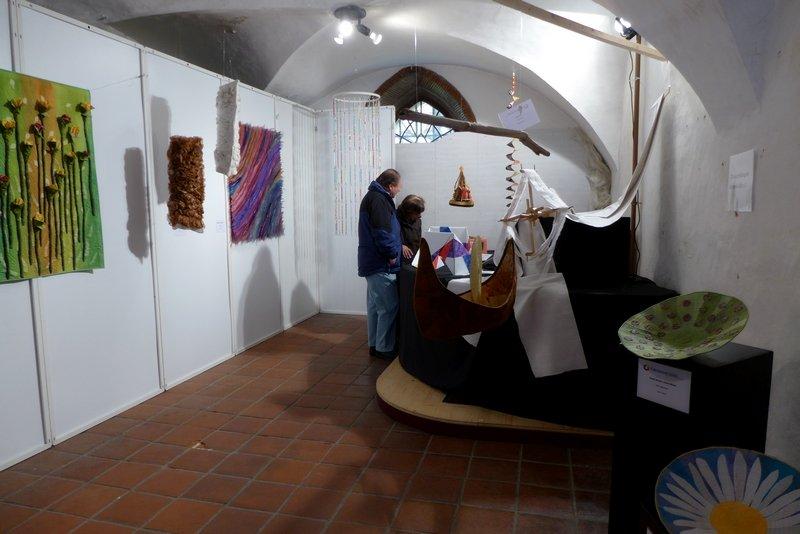 Blick in die Ausstellung '3D' - Ausschreibung der Gilde