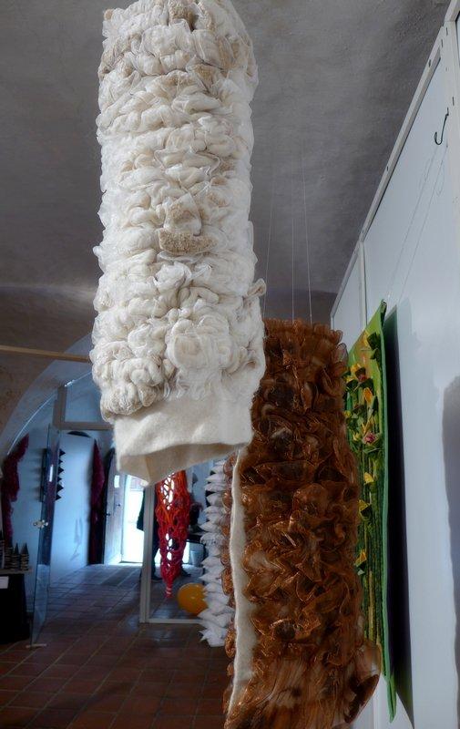 Silke Bosbach: Norwegen (2-teilig), Detail Ausstellung '3D' - Ausschreibung der Gilde
