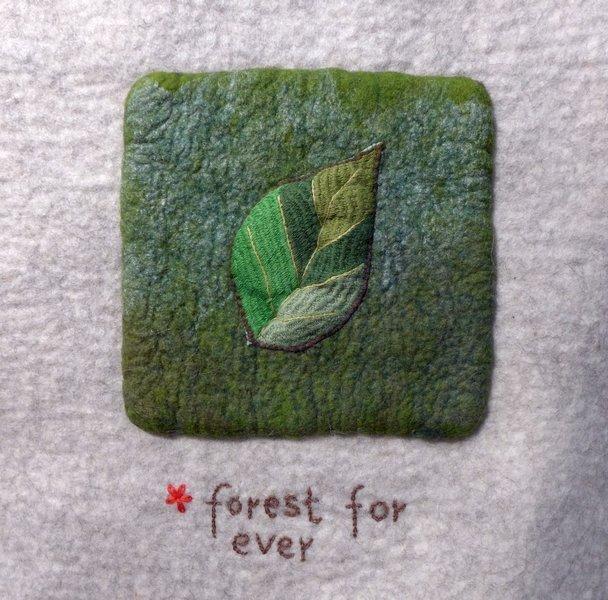 Sigrid Schwarzenberger: Seite bei Seite, Detail, Ausstellung 'Forest for ever'
