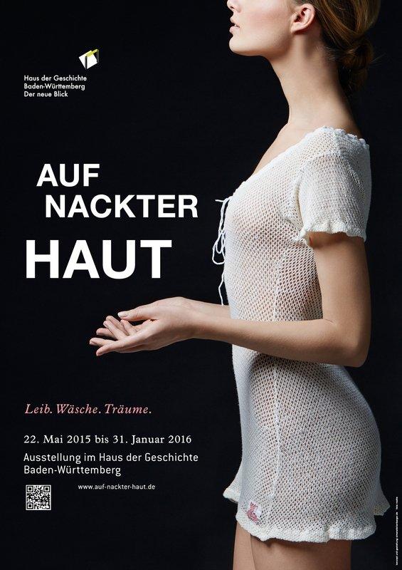 Ausstellungsplakat Basierend auf Schiesser-Flechttrikot Damen; Baumwolle, gewirkt; um 1900 Haus der Geschichte Baden-Württemberg / Simone Leitenberger