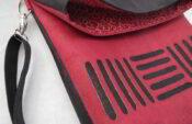 Kork Umschlagtasche rot-schwarz 3