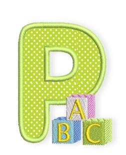 bernina baby alphabet das p bernina blog. Black Bedroom Furniture Sets. Home Design Ideas