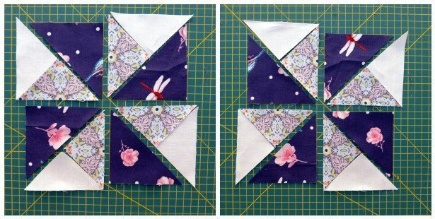 Quiltmanufaktur Double Pinwheel Drehrichtung