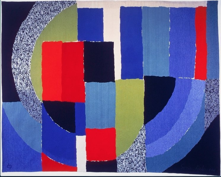 Sonia Delaunay (1885 - 1979) Drakkar, 1972 Exemplaire unique Signature artiste en bas à droite - Monogramme de l'atelier en bas à gauche Bolduc signé Achat Pierre Daquin, 2000 ® Musées d'Angers