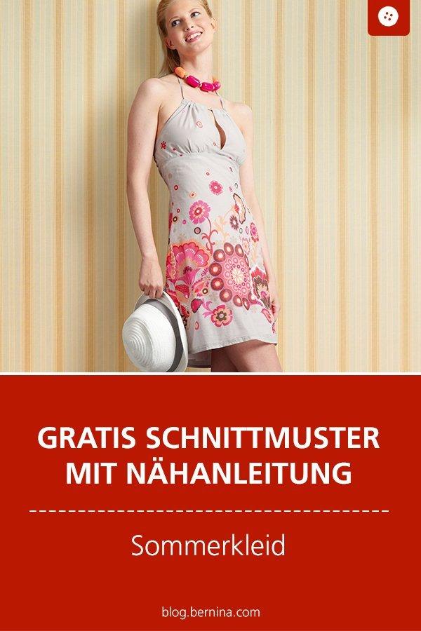 Gratis Schnittmuster mit Nähanleitung: Sommerkleid nähen
