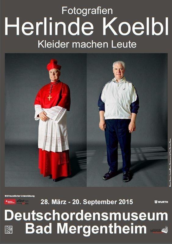 Ausstellungsplakat Bischof Gerhard Müller, Deutschland Beide Fotos: © Herlinde Koelbl