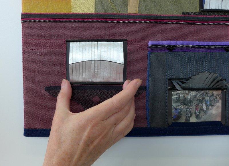 Wenn Tore mit den Wimpern klimpern, Detail textilkunstalternativ - Die Alküns: Ausstellung 'Alküns IX'