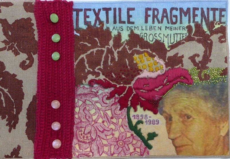 Renate Tillack: Textile Fragmente, Detail textilkunstalternativ - Die Alküns: Ausstellung 'Alküns IX'