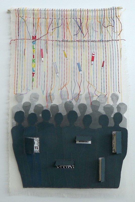 Susanne Kontarsky-Blass: Vielfalt statt Einfalt textilkunstalternativ - Die Alküns: Ausstellung 'Alküns IX'