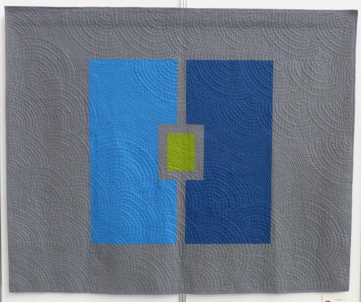 Katrin Möller: Solid Green Modern Quilt Guild Stuttgart: Ausstellung 'Modern Quilting im Ländle'