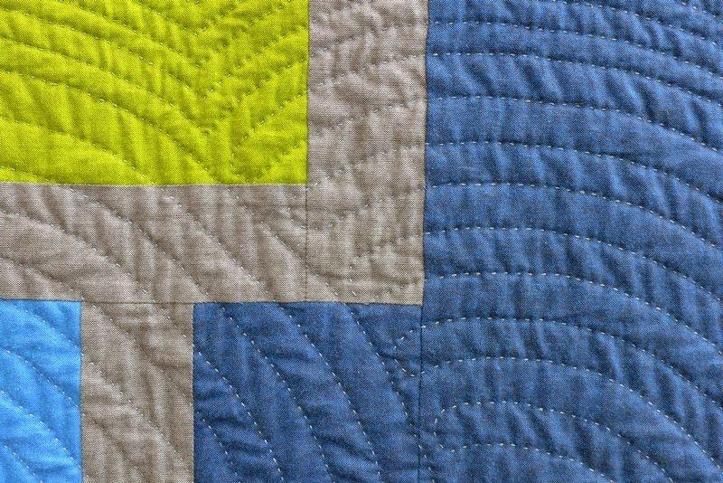 Katrin Möller: Solid Green, Detail Modern Quilt Guild Stuttgart: Ausstellung 'Modern Quilting im Ländle'