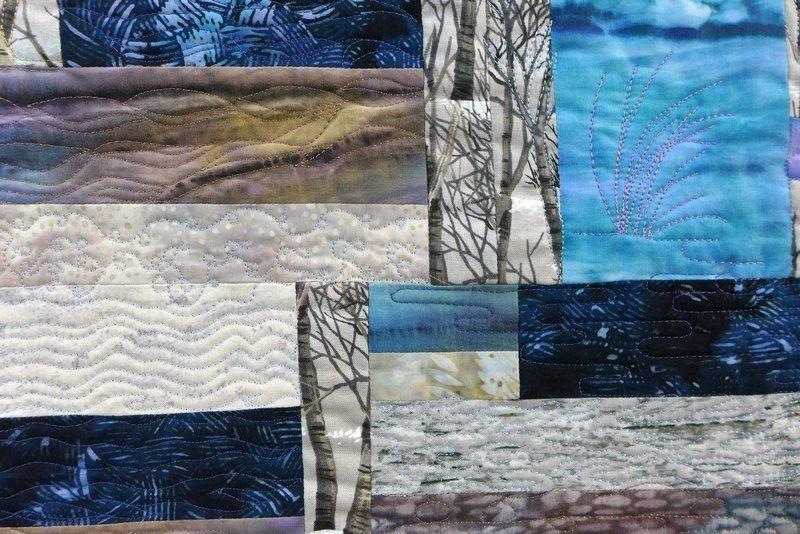Elisabeth Nacenta de la Croix: In the Snow, Detail Ausstellung 'Water Reflection'