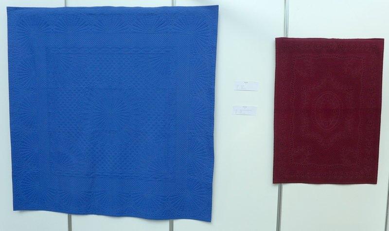 Rhodolith, 2005 (li), Dumortierit, 2006 (re) Ausstellung 'Andrea Stracke Retrospektive'