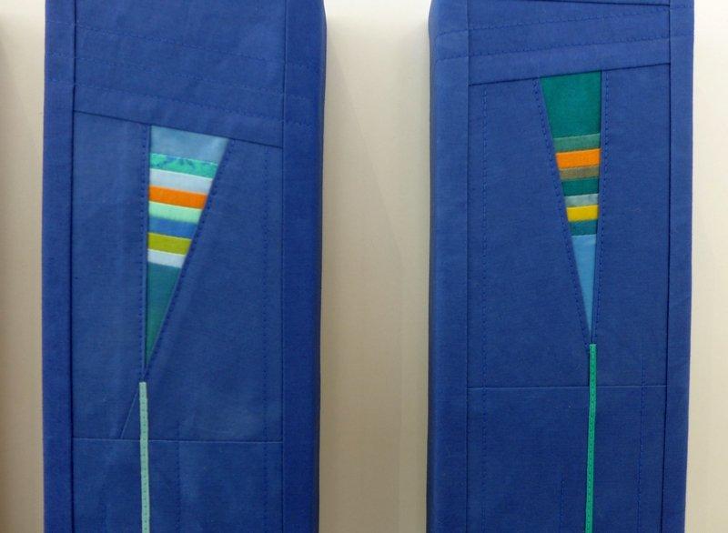 Arbeiten von Petra Becker, Detail Ausstellung 'freistil'