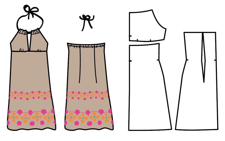 Как сшить из летнего платья юбку 178