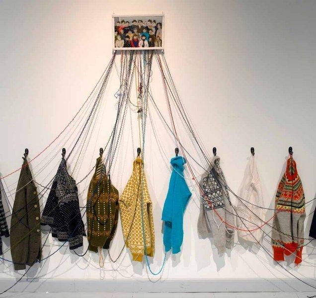 Rijswijk Textile Biennial 2015 Kari Steihaug: 4. Klasse (4th Grade), 170 x 500 cm, 2008 Foto: Thor Westrebo