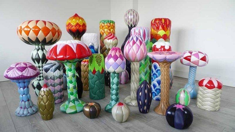 Rijswijk Textile Biennial 2015 Mai Tabakian: Garden Sweet Garden, Installation von 32 Skulpturen, 100 x 200 x 250 cm, 2012 - 13 Foto: Mai Tabakian