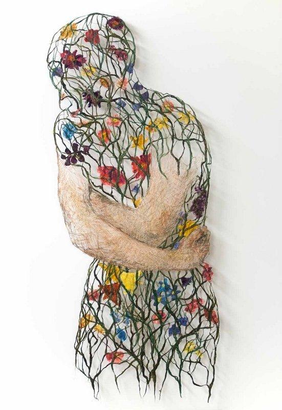 Rijswijk Textile Biennial 2015 Raija Jokinen: Internal Garden, 95 x 38 cm, 2014 Foto: Raija Jokinen