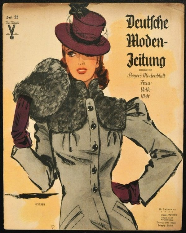 Eleganz 1939: In der Ausstellung sind viele Modezeitschriften zu sehen, an denen sich schon damals die Frauen in Sachen Mode orientierten. Bild: LVR-Industriemuseum