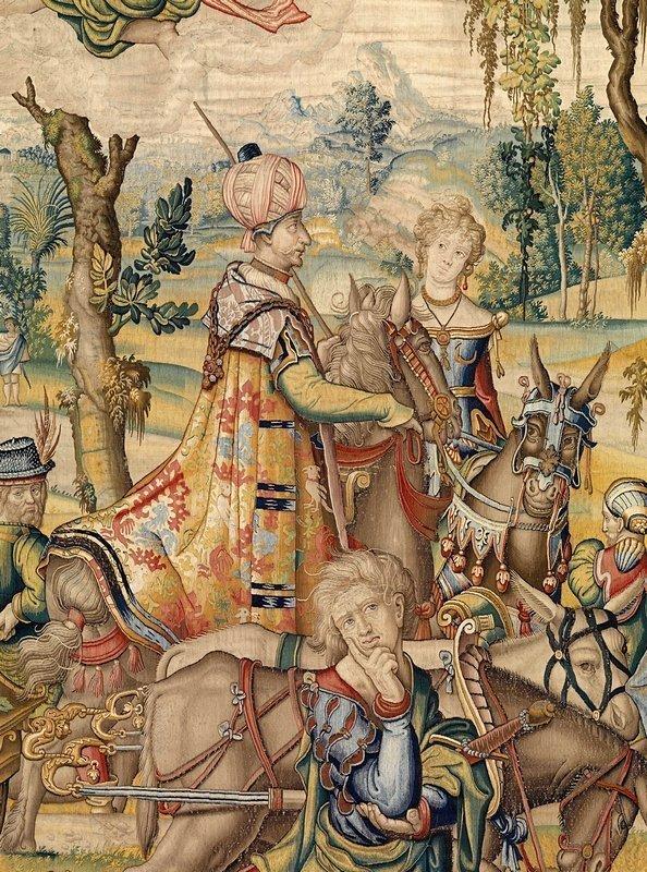 Die Trägheit (Acedia) Tapisserie aus der Serie 'Die sieben Todsünden' (Ausschnitt) Entwurf: Pieter Coecke van Aelst (Aalst 1502 – 1550 Brüssel), um 1533/34 Hergestellt unter Willem de Pannemaker, Brüssel, um 1548/49 Wolle, Seide, Lahn; 456 x 708 cm Kunsthistorisches Museum, Kunstkammer © KHM-Museumsverband