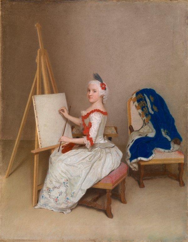 Jean-Étienne Liotard Prinzessin Karoline Luise von Hessen-Darmstadt, 1745 © Staatliche Kunsthalle Karlsruhe