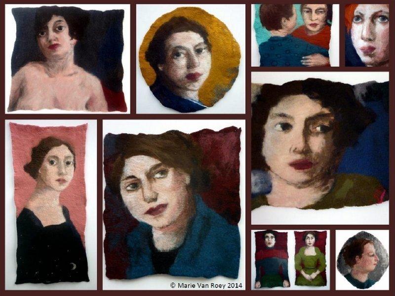 Marie Van Roey: Felted Portaits Foto freundlicherweise vom Museum zur Verfügung gestellt