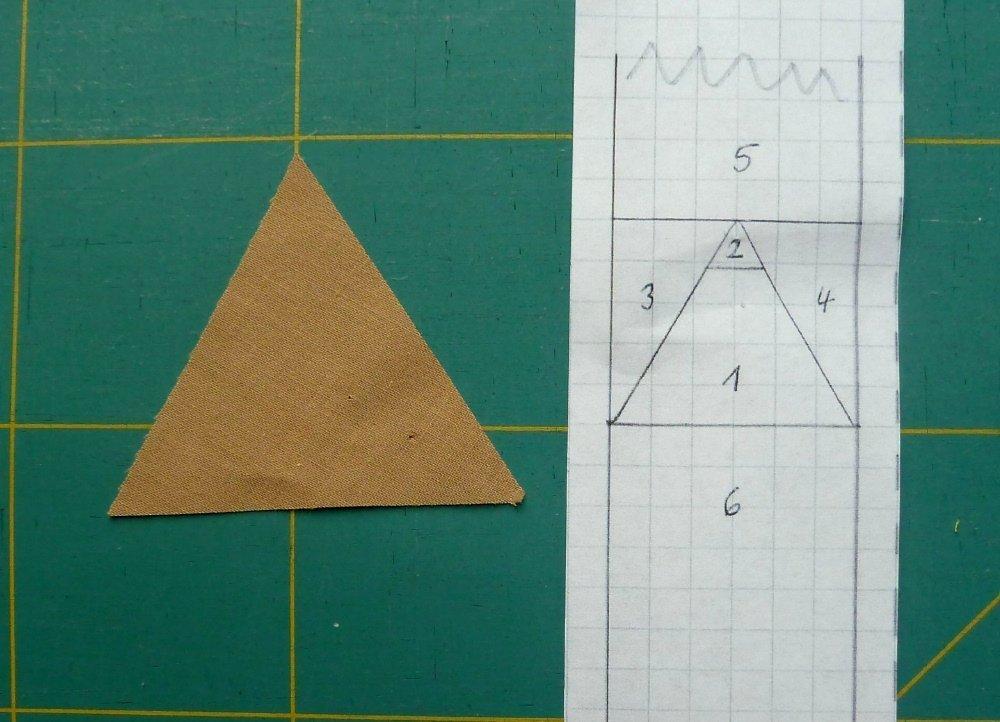Nähanleitung paper-Foundation-methode, Lunch-bag