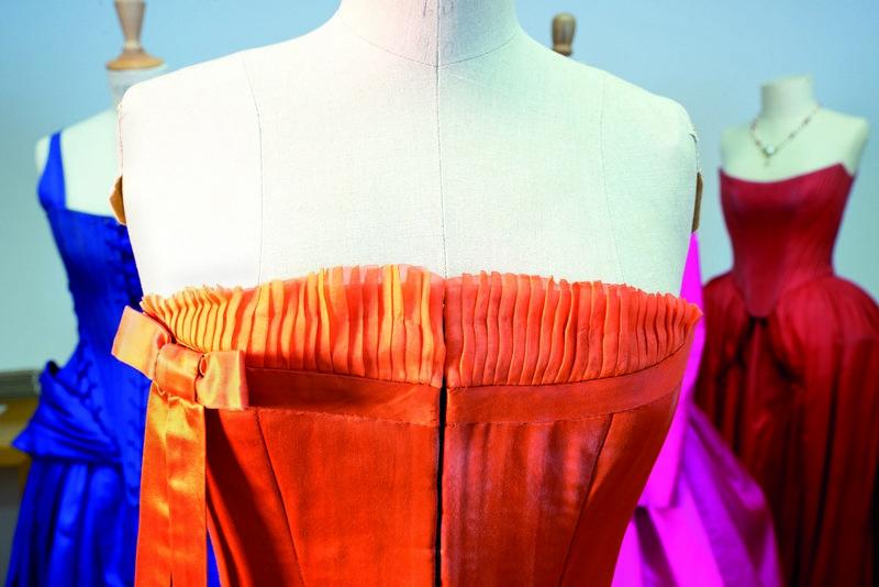 Ausstellung 'Die Kleider der Buhlschaft' Kleid von Birgit Minichmayr, 2010, Detail Foto: ©Anneliese Kaar, Salzburg
