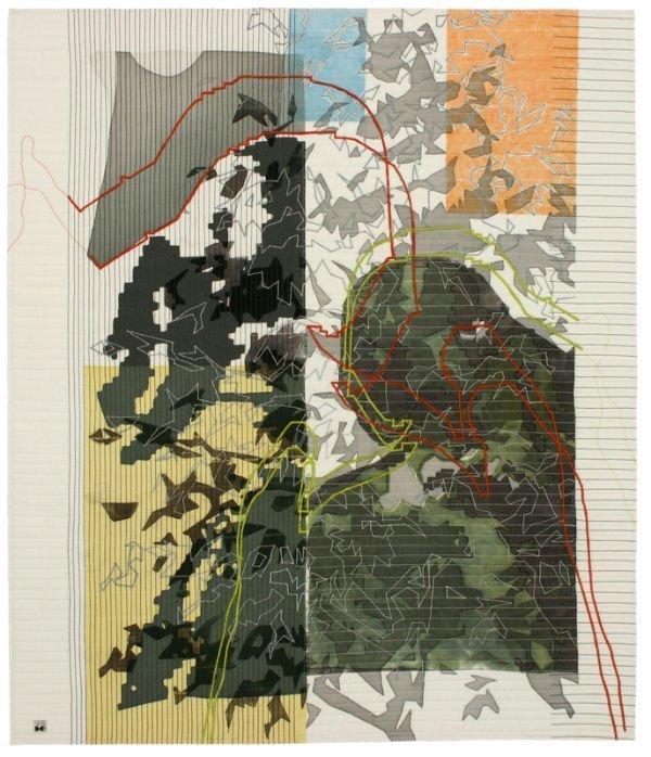 Art Quilt Ausstellung 'Small Talk' Willy Doreleijers: Gossip