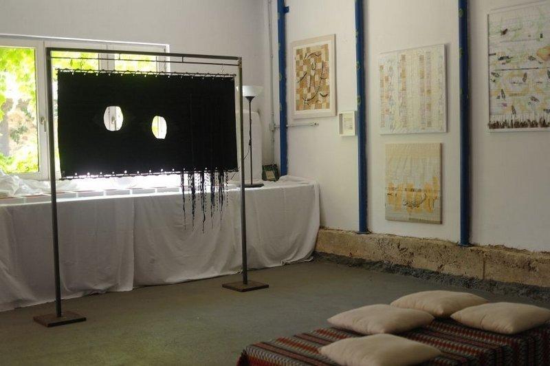 Blick in Martina Unterharnscheidts neuen Kunstraum Foto freundlicherweise von Martina Unterharnscheidt zur Verfügung gestellt