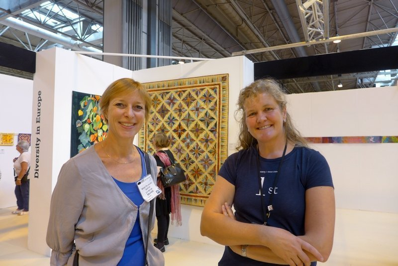Mirjam Pet-Jacobs und Birgit Kaller Ausstellung 'Diversity in Europe' The Festival of Quilts 2015